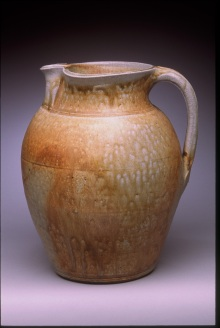 Alkaline glazed Pitcher with Local Clay for Color