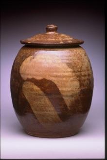 Lidded Jar with Titanium Slip