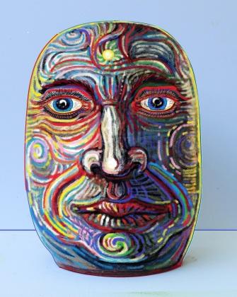 Egg Head, Ceramic Image Altered Digitally